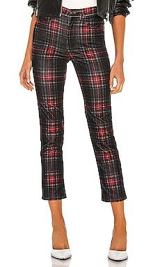 Tartan Plaid Slim Crop Pant Pam & Gela $295