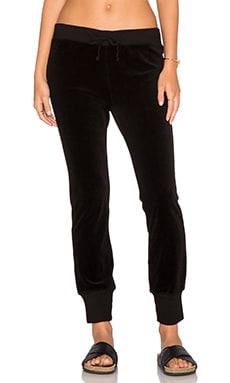 Pam & Gela Betsee Velour Sweatpants in Black