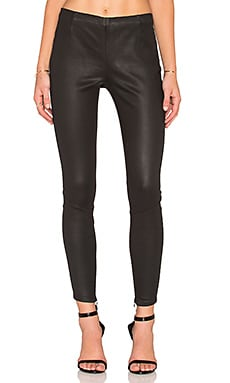 Pam & Gela Coated Sateen Legging in Black Coated