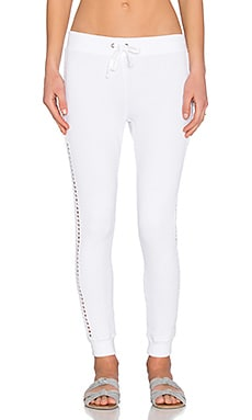 Pam & Gela New Betsee Sweatpant in White