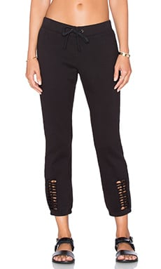 Pam & Gela Cutout Pant in Black