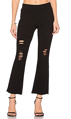 Cropped Flare Pant in Black