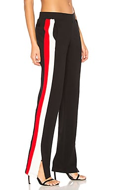 Sport Stripe Pant in Black