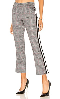 Glen Plaid Cropped Track Pant Pam & Gela $195