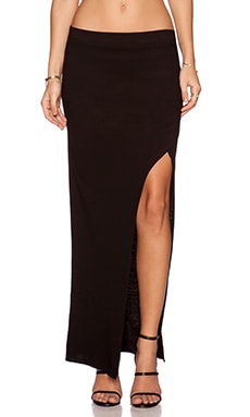 Pam & Gela Slit Maxi Skirt in Black