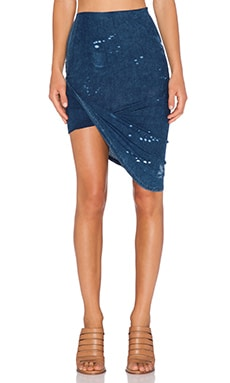 Pam & Gela Draped Skirt in Splatter Wash