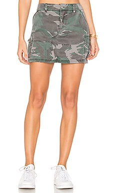 Cargo Pocket Skirt in Camo
