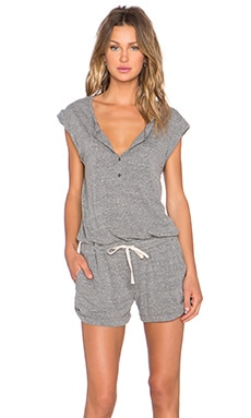 Pam & Gela Muscle Romper in Heather Grey
