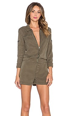 Pam & Gela Gasoline Romper in Dark Army