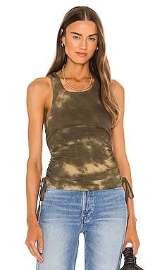 Shirred Scoop Neck Tank Pam & Gela $95