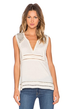 Pam & Gela Sleeveless Voile Tank in Parchment
