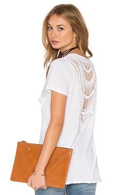 Pam & Gela Crochet Back Top in White