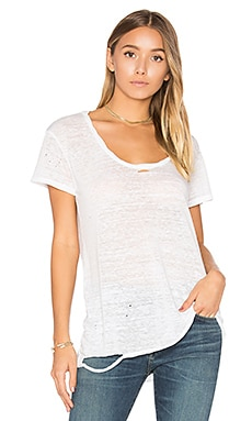 Destroyed Scoop Neck Tee