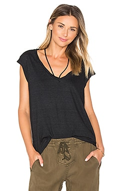 V-Neck Tee With Strings