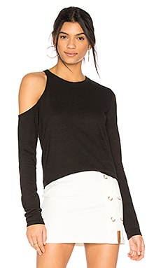 Shoulder Cutout Tee en Noir