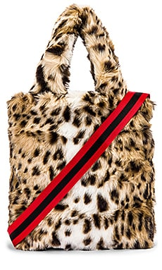 Leopard Faux Fur Bag Pam & Gela $99