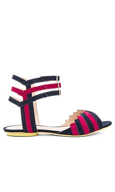 Abha Sandal in Navy & Red