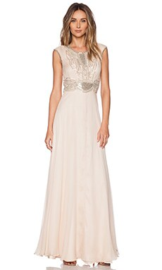 Parker Black Cannes Sequin Maxi Dress in Blush