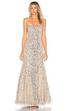 Renee Embellished Gown Parker Black $606