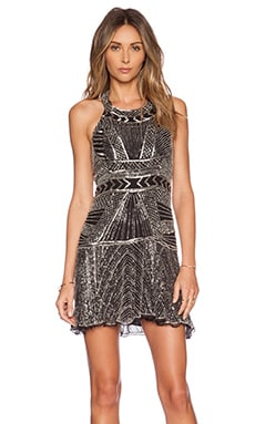 Parker Black Leona Sequin Dress in Black