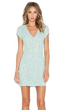 Parker Black Serena Sequin Dress in Mint