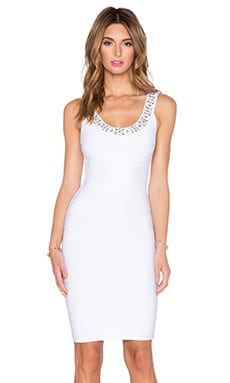 Parker Black Renee Knit Dress in White