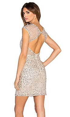 Parker Black Elva Sequin Dress in Silver