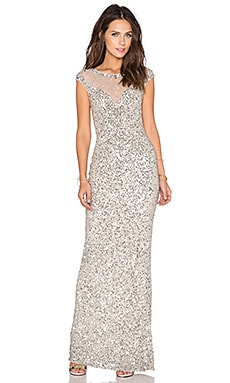 Parker Black Jennifer Sequin Dress in Silver
