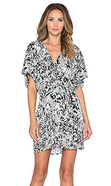 Parker Black Nole Dress in Abstract Snake