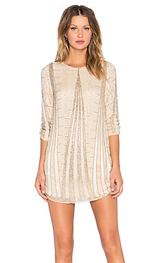 Parker Black Michelle Embellished Dress in Nude