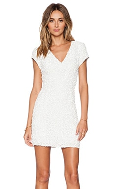 Serena Sequin Dress in White