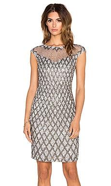 Parker Black Montclair Embellished Dress in Grey