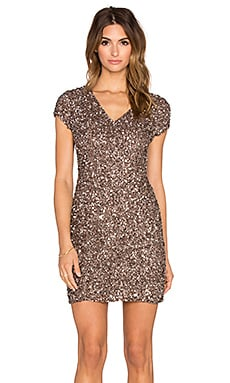 Parker Black Serena Sequin Dress in Mauve