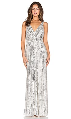 Parker Black Dawson Dress in Silver