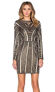 Parker Black Elly Embellished Dress in Black