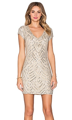 Parker Black Serena Embellished Dress in Light Blush