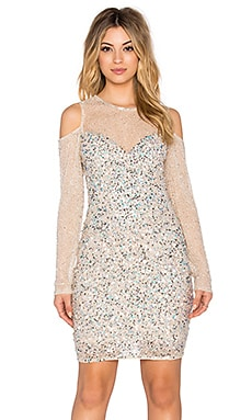 Parker Black Melania Sequin Dress in Nude