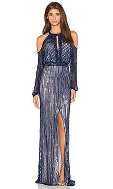Parker Black Casa Embellished Dress in Blue