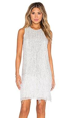 Parker Black Allegra Embellished Dress in White