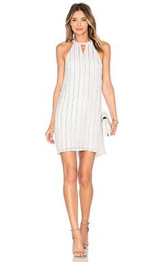 Parker Black Sansa Embellished Dress in White
