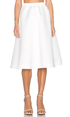 Parker Black Luisa Skirt in White