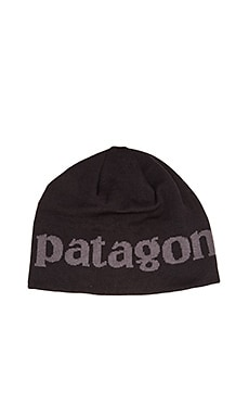 Patagonia Logo Beanie in Black