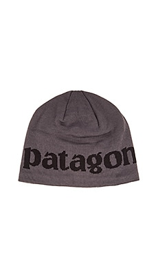 Patagonia Lined Logo Beanie in Forge Grey