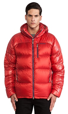 Patagonia Fitz Roy Down Parka in Cochineal Red & El Cap Khaki