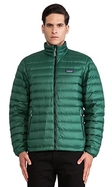 Patagonia Down Sweater in Malachite Green & Black