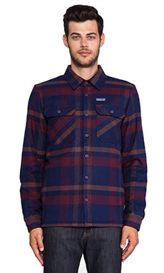 Patagonia Insulated Fjord Flannel Jacket in Comstock & Dark Currant