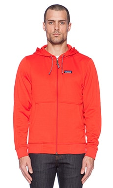 Patagonia Upslope Full-Zip Hoody in Turkish Red