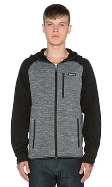 Patagonia Better Sweater Hoody in Nickel & Forge Grey