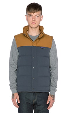 Patagonia Bivy Down Vest in Smolder Blue