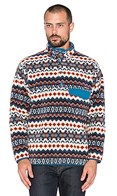 Patagonia Synchilla Snap-T Pullover in Cliff & Underwater Blue